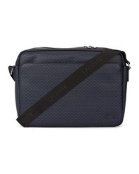Lacoste Navy Logo All Over Messenger Bag Blue