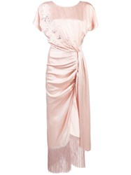 Magda Butrym Side Knot Dress Pink And Purple