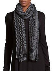 Missoni Charcoal Hat And Scarf Set