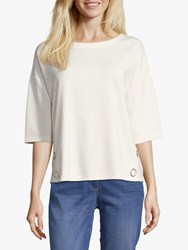 Betty Barclay Button Trimmed Top Off White