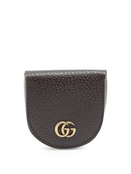 Gucci Gg Marmont Grained Leather Coin Purse Brown