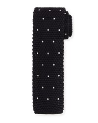Tom Ford Knitted Dot Silk Tie Black