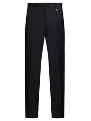 Lanvin Classic Straight Leg Wool Trousers Navy
