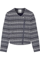Joie Darnel Intarsia Cotton Blend Jacket