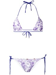 Missoni Tie Dye Lace Bikini Pink Purple