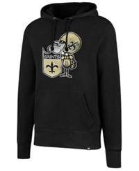 47 Brand '47 Men's New Orleans Saints Retro Knockaround Hoodie Black