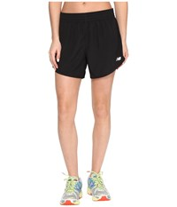 New Balance Accelerate 5 Shorts Black Women's Workout