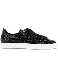 Guild Prime Patent Woven Sneakers Men Artificial Leather 41 Black