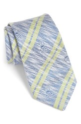 Psycho Bunny Men's Double Stripe Silk Tie Navy