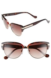 Women's Ivanka Trump 56Mm Round Sunglasses Tortoise