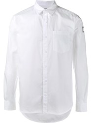 Neighborhood Rear Print Casual Shirt White
