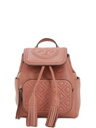 Tory Burch Fleming Mini Quilted Leather Backpack Tramonto