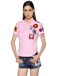 Dsquared Patches Embellished Oxford Shirt