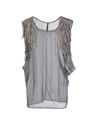 Get Lost Topwear Vests Women Grey
