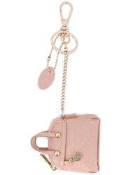Furla Purse Keyring Pink Purple