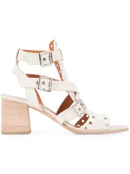 Derek Lam Eyelet Embellished Sandals White