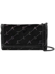 Stella Mccartney Falabella Continental Embellished Wallet Black