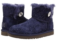 Ugg Mini Bailey Button Bling Constellation Navy Suede Women's Boots Blue