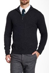 Qi Cashmere Funnel Neck Sweater Gray