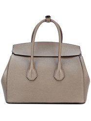 Bally Double Straps Tote Brown