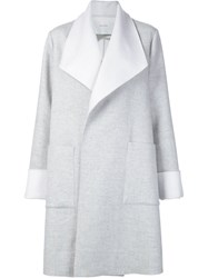 Adam By Adam Lippes Adam Lippes Shawl Lapel Coat Grey