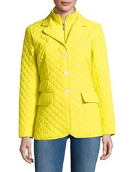 Jane Post Quilted Riding Jacket Yellow