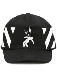 Off White Diag Electricity Cap Black