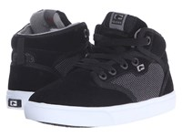Globe Motley Mid Little Kid Big Kid Black Suede Woven Men's Skate Shoes
