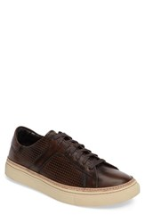 Vince Camuto Men's Tunno Perforated Sneaker Tan Leather
