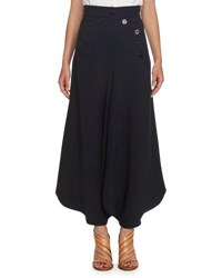 Chloe Crepe Sailor Harem Pants Blue