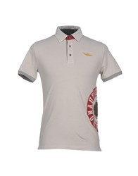 Aeronautica Militare Topwear Polo Shirts Men Light Grey