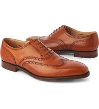 Crockett Jones Drummond Derby Shoes Tan