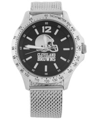 Game Time Cleveland Browns Cage Series Watch Silver Black