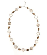 Viyella Shell And Pearl Longline Necklace