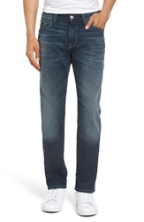 Mavi Jeans Men's Big And Tall Marcus Slim Straight Leg Mid Used Destroyed