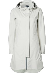 Herno Mid Hooded Coat Nude Neutrals