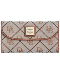 Dooney And Bourke Continental Clutch Wallet A Macy's Exclusive Style Grey Tan