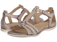 Ecco Flash T Strap Sandal Warm Grey Metallic Moon Rock Women's Sandals Bronze