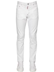 Dsquared 16.5Cm Cool Guy Stretch Cotton Jeans White