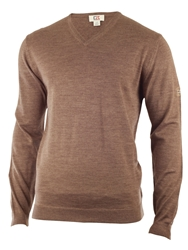 Cutter And Buck Merino V Neck Sweater Brown