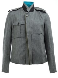 Ann Demeulemeester Military Jacket Grey