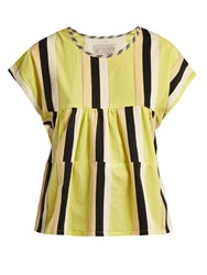 Ace And Jig Marfa Striped Cotton Top Yellow Multi