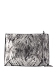Uma Raquel Davidowicz Leather Tunga Shoulder Bag Silver
