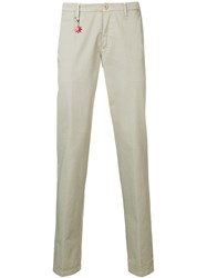 Manuel Ritz Slim Fit Tailored Trousers Neutrals
