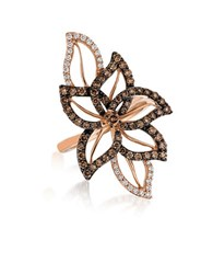Le Vian Chocolatier Crazy Vanilla And Chocolate Diamond And 14K Strawberry Gold Ring Brown