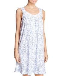 Eileen West Floral Print Short Chemise White Ground Stardust Ditsy