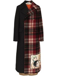 Gucci Double Breasted Manga Wool Coat Red