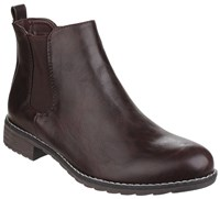Divaz Kelly Pull On Ankle Boots Brown