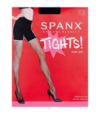 Spanx Plaid Lace Tights Female Black