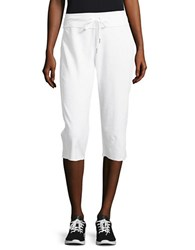 Calvin Klein Cotton Blend Cropped Pants White